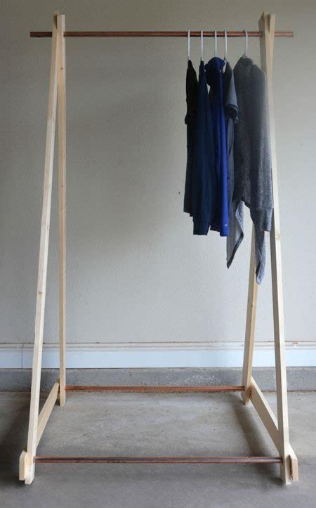 diy clothing rack diy copper clothing rack two thirty five designs