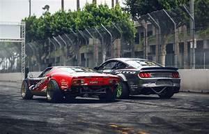 Wallpaper Drift, Cars, Lamborghini Miura, Rear, Ford