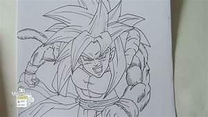Drawing Gogeta SSJ4 ゴジータ Part 1 - YouTube