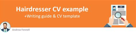 hairdresser cv  cv writing guide  hired quickly