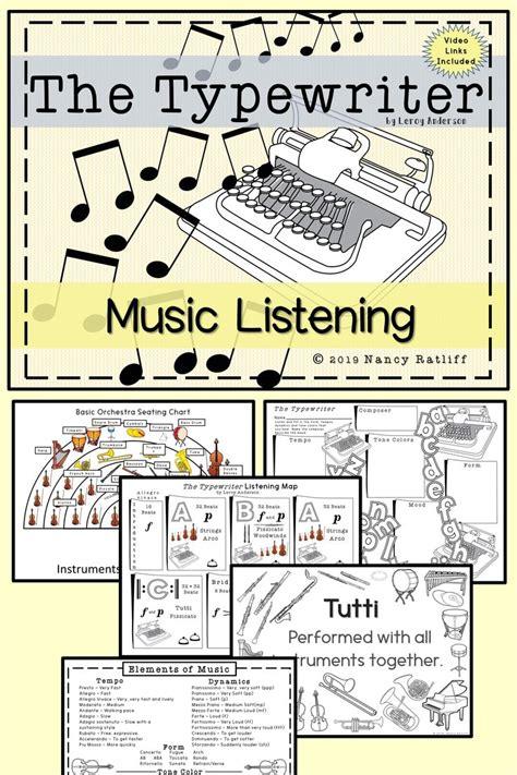 typewriter  listening   orchestra