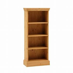 Farmhouse Pine Extra Narrow Bookcase (4ft high) including ...