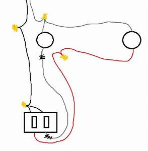 electrical wiring two lights and two switches using a With individual switch wires s is then ran from the switch to the lights