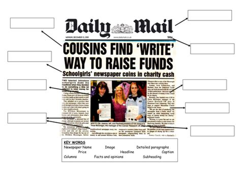 features   newspaper  sherish teaching resources tes