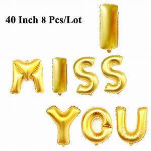 40 inch gold silver letter balloons wedding party With 40 inch letter balloons