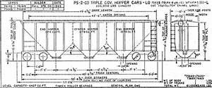 Pullman Standard U0026 39 S Ps-2cd 4427 Covered Hopper