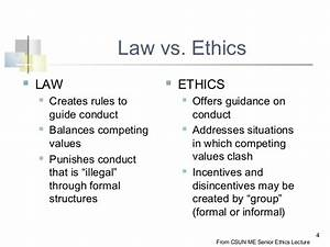 Laws Do Not Provide A Complete Guide To Ethical Behavior