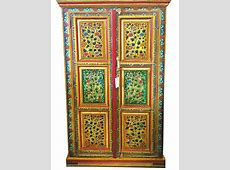 indian jaipur ArmoireHandPainted Floral Cabinet by