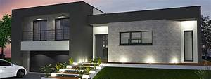 Plan Maison Contemporaine Toit Plat : maison toit plat sur sous sol ~ Nature-et-papiers.com Idées de Décoration