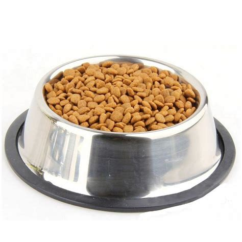 stainless steel  tip  slip dog puppy pet food water