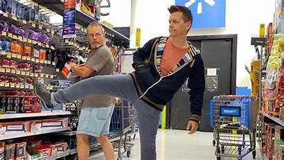 Walmart Farting Leg Lifting While Gross Funny