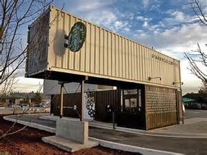 design wohncontainer the world 39 s only pre fab portable drive thru walk up starbucks made out of shipping