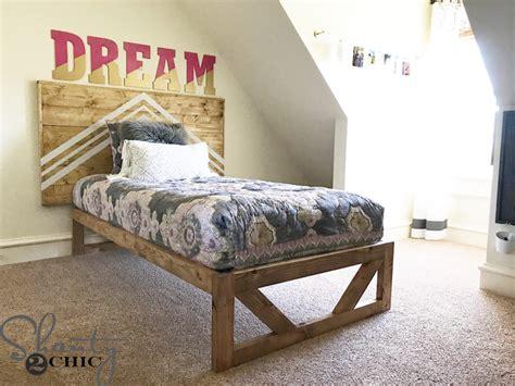 diy modern platform bed shanty  chic