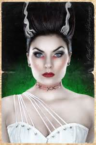 Bride of Frankenstein Pin Up Makeup