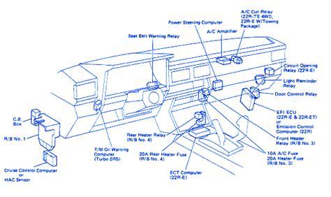 diagram  toyota pickup fuse diagram full version hd
