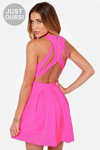 Best 10 Neon pink dresses ideas on Pinterest