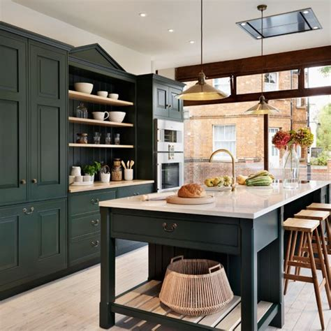 green kitchen cabinets painted painted kitchen design ideas decorating housetohome co uk