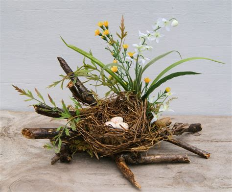 bird decorates nest bird nest spring nest coffee table decor by hollyferencze