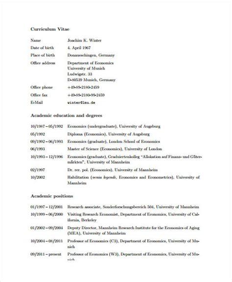 academic cv template 11 academic curriculum vitae templates pdf doc free premium templates