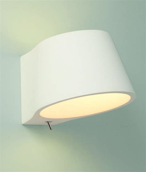 switched plaster bedside light
