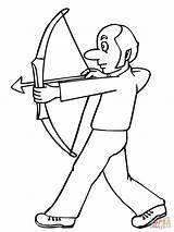 Coloring Archer Funny Bow Hunting Archery Clipart Colorings Supercoloring sketch template