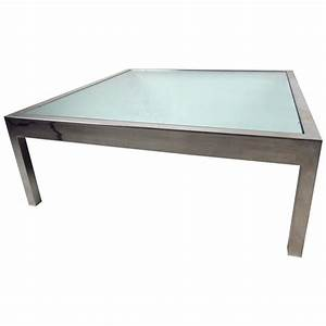 unique midcentury mirrored glass and chrome coffee table With chrome mirror coffee table