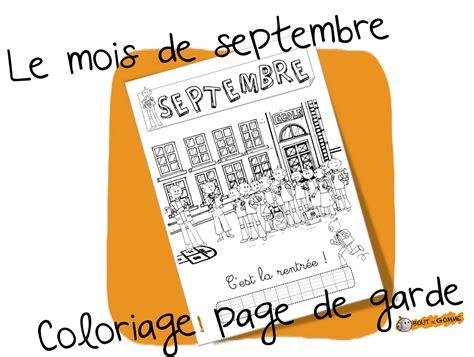 mois de septembre coloriage bout de gomme bloglovin