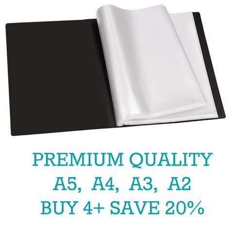 Resume Display Folder by Premium A5 A4 A3 A2 Black Display Book Presentation Folder Portfolios Tiger Ebay