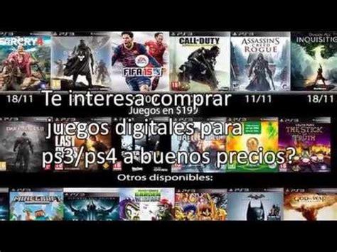 Tango serán los videojuegos que. Compra Juegos Digitales Para PS3/PS4 A Buen Precio - YouTube