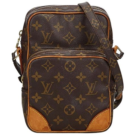 vintage authentic louis vuitton brown amazone france  dust bag small  sale  stdibs
