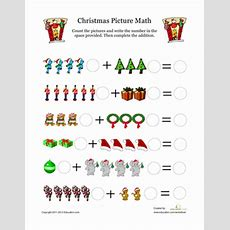 Christmas Picture Math  Worksheet Educationcom