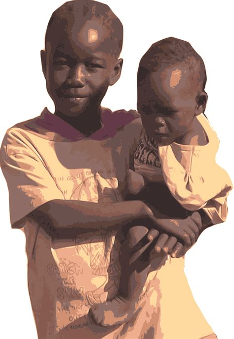 Clipart - South Sudanese Refugee