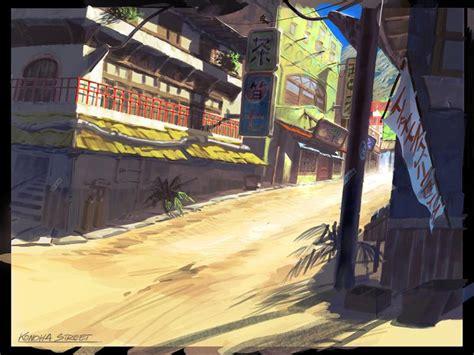 konoha street characters art naruto rise   ninja