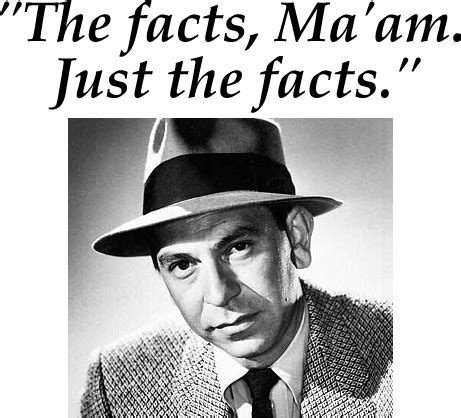 Image result for Just the facts