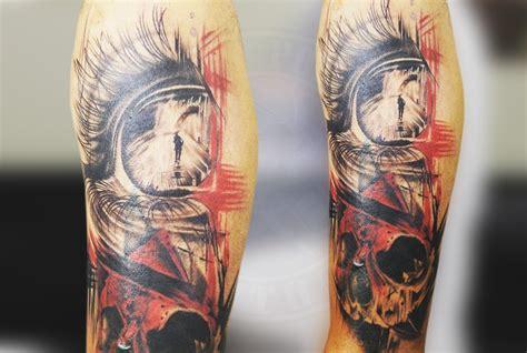 realistic trash polka tattoo black poison tattoo studio
