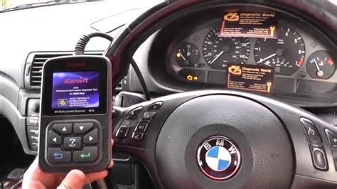 check engine light on and off turn off bmw eml check engine light icarsoft i910 youtube