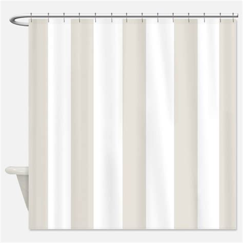 beige and white striped shower curtains beige and white