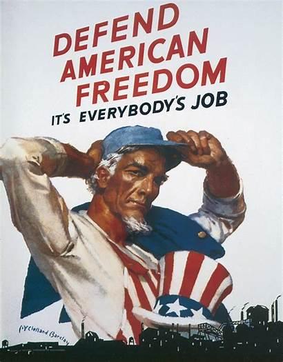 American Freedom Propaganda Defend War Poster Posters