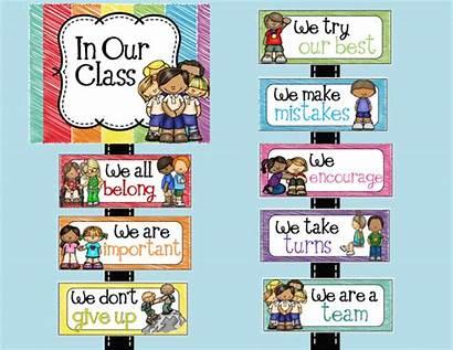 Classroom Positive Statements Rules Posters Teacher Teacherspayteachers