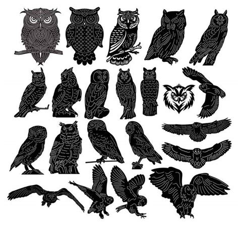 owls birds dxf files cut ready  cnc machines dxfforcnc