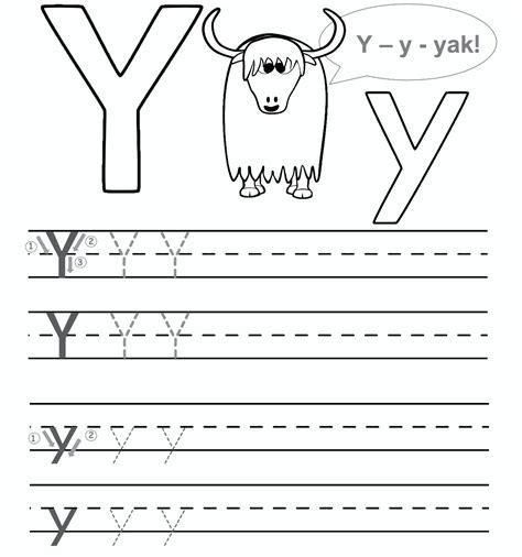 Free Printable Letter Y Worksheets For Kindergarten & Preschool