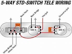 Telecaster Sh Wiring 5-way
