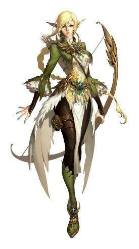 elven archer anime concept art art character concept