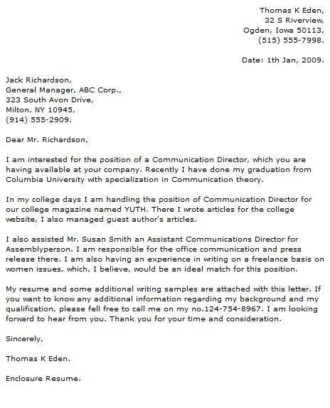 application letter cover  fresh graduate medical