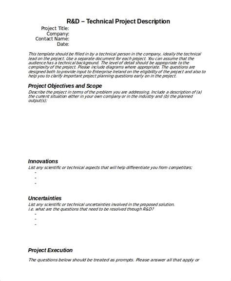 project description template   word  document