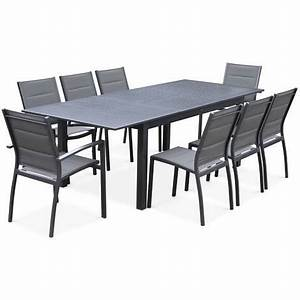 Table De Jardin En Aluminium Avec Rallonge : salon de jardin table extensible chicago anthracite table en aluminium 175 245cm avec ~ Teatrodelosmanantiales.com Idées de Décoration
