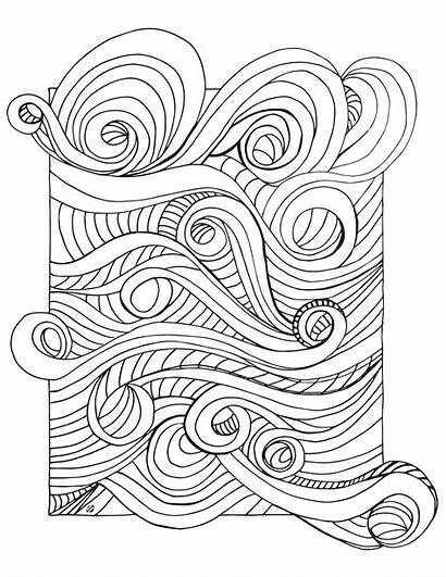 Coloring Waves Ocean Pages Wave Drawing Colouring