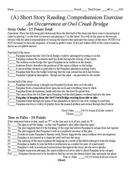story test an occurrence at owl creek bridge by