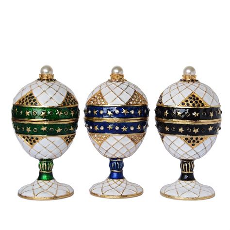 faberge style egg jewelry trinket treasured wedding ring gift boxes home ornaments novelty