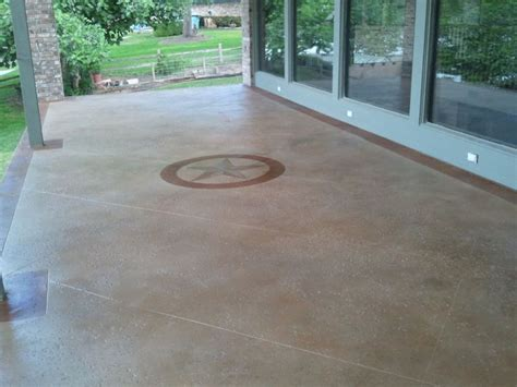 concrete stained salt finished patio with maylay stain